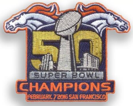 2016 Super Bowl 50th Champions Denver Broncos Championship Patch