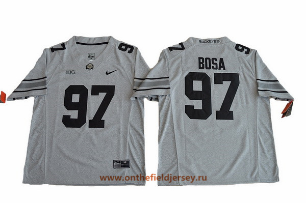 Men's Ohio State Buckeyes #97 Joey Bosa Gridiron Gray II Limited College Football Stitched Nike NCAA Jersey