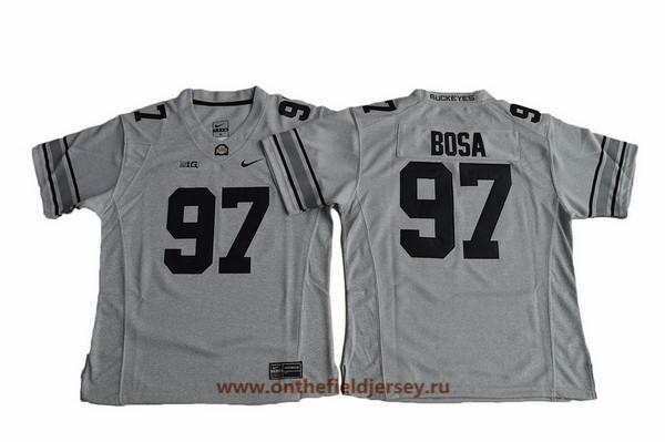 Women's Ohio State Buckeyes #97 Joey Bosa Gridiron Gray II Limited College Football Stitched Nike NCAA Jersey