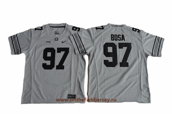 Youth Ohio State Buckeyes #97 Joey Bosa Gridiron Gray II Limited College Football Stitched Nike NCAA Jersey