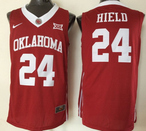 Men's Oklahoma Sooners #24 Buddy Hield Red 2016 College Basketball Nike Jersey