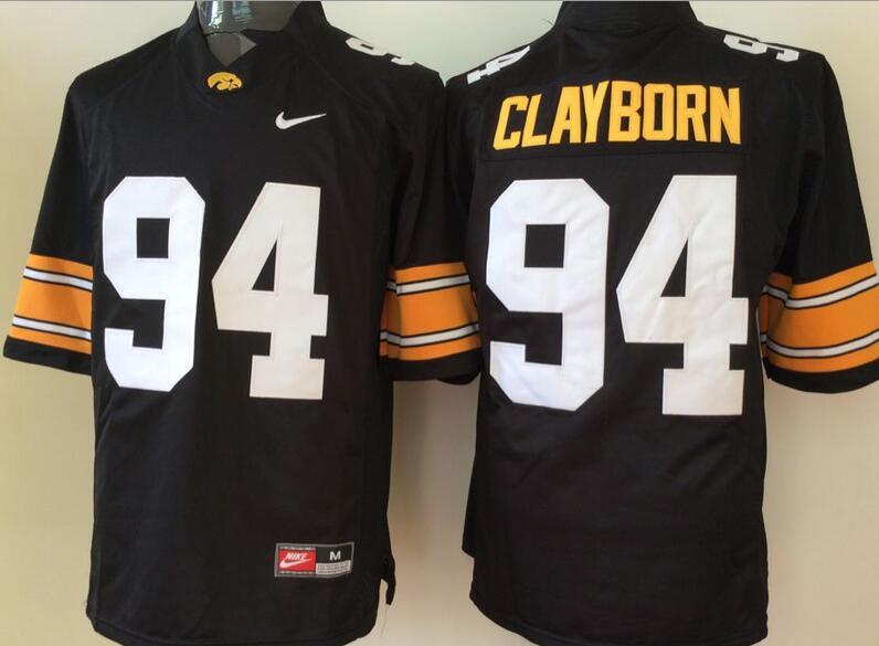 Men's Iowa Hawkeyes #94 Adrian Clayborn Black Stitched NCAA Nike College Football Jersey