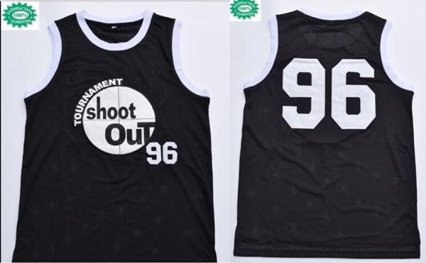 Men's Tournament Shakur Tupac #96 Birdie torneo Shoot Out Black Swingman Basketball Jersey
