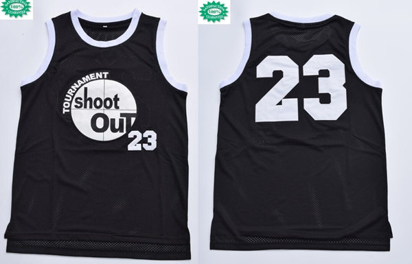 Men's Tournament Shakur Tupac #23 Birdie torneo Shoot Out Black Swingman Basketball Jersey
