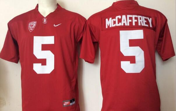 Men's Stanford Cardinal #5 Christian McCaffrey Red Limited Stitched College Football Nike NCAA Jersey