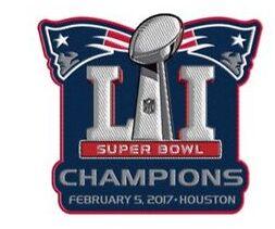 2017 Super Bowl LI Champions New England Patriots Championship Patch