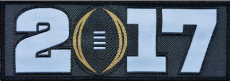 2017 NCAA College Football Playoff Bowl Black Patch