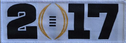 2017 NCAA College Football Playoff Bowl White Patch
