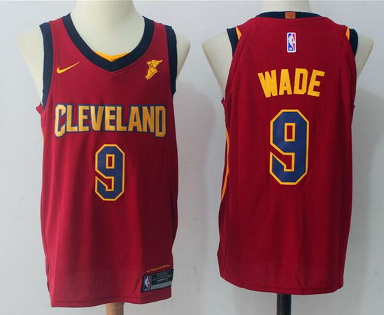 Men's Cleveland Cavaliers #9 Dwyane Wade Red 2017-2018 Nike Swingman Goodyear Stitched NBA Jersey