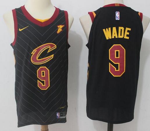 Men's Cleveland Cavaliers #9 Dwyane Wade Black 2017-2018 Nike Swingman Goodyear Stitched NBA Jersey