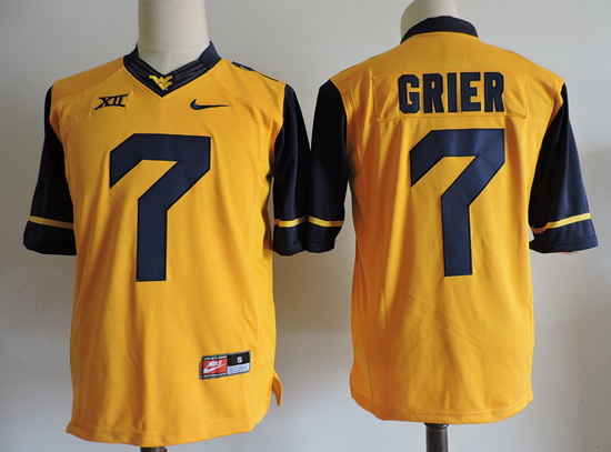 Men's West Virginia Mountaineers #7 Will Grier Gold Limited College Football Stitched Nike NCAA Jersey