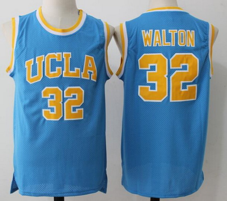 Men's UCLA Bruins #32 Bill Walton Light Blue College Basketball Swingman Stitched NCAA Jersey