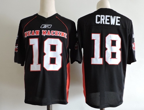 Men's The Moive Mean Machine Sandler #18 Paul Crewe The Longest Yard Black Stitched Football Jersey