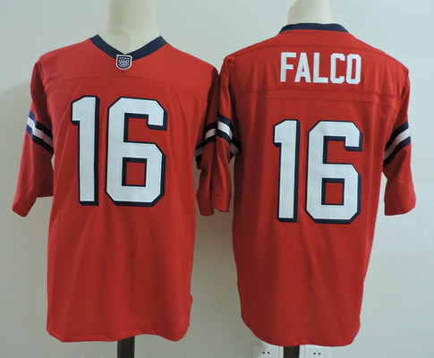 Men's The Movie The Replacements #16 Shane Falco Red Stitched Football Jersey