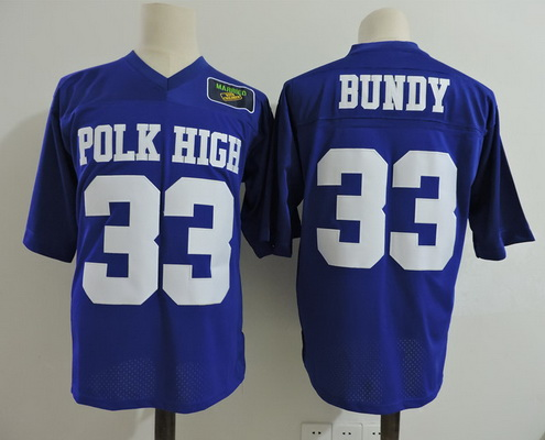 Men's The Moive Al Bundy #33 Polk High Royal Blue Stitched Film Football Jersey with Married with Children Patch