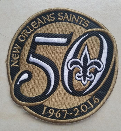 1967-2016 New Orleans Saints 50th Anniversary Patch