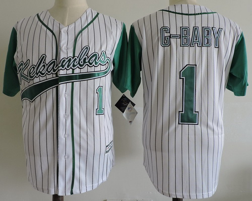 Men's The Movie Hardball #1 Jarius 'G-Baby' Evans Stitched Kekambas Film Baseball Jersey with Includes Patch