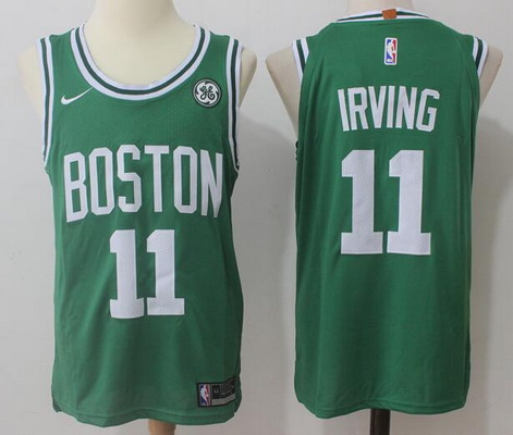 Men's Boston Celtics #11 Kyrie Irving Green 2017-2018 Nike Swingman General Electric Stitched NBA Jersey