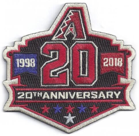 2018 Arizona Diamondbacks 20th Anniversary Patch