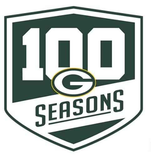 2018 Green Bay Packers 100th Anniversary Patch