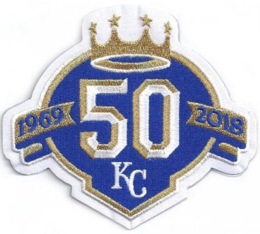 2018 Kansas City Royals 50th Anniversary Patch