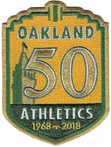 2018 Oakland Athletics A's 50th Anniversary Patch