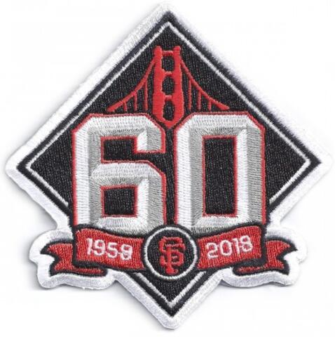 2018 San Francisco Giants 60th Anniversary Jersey Patch