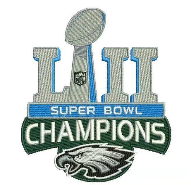 2018 Super Bowl LII Champions Philadelphia Eagles Championship Patch