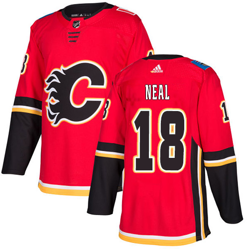 Men's Calgary Flames #18 James Neal Red Home Stitched Adidas NHL Jersey