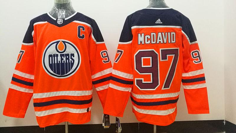 Women's Adidas Edmonton Oilers #97 Connor McDavid Orange Home NHL Jersey