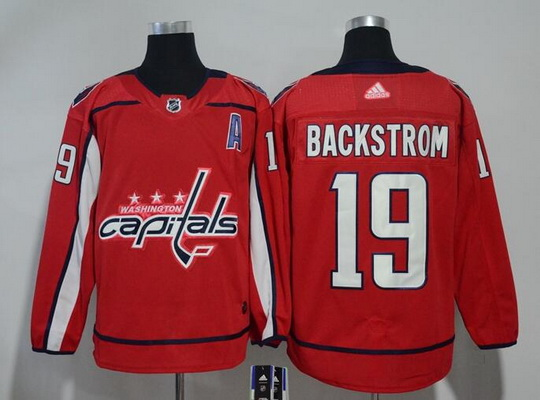 Washington Capitals #19 Nicklas Backstrom Red Stitched Adidas NHL Home Men's Jersey