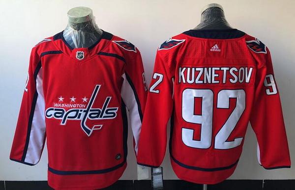 Washington Capitals #92 Evgeny Kuznetsov Red Stitched Adidas NHL Home Men's Jersey