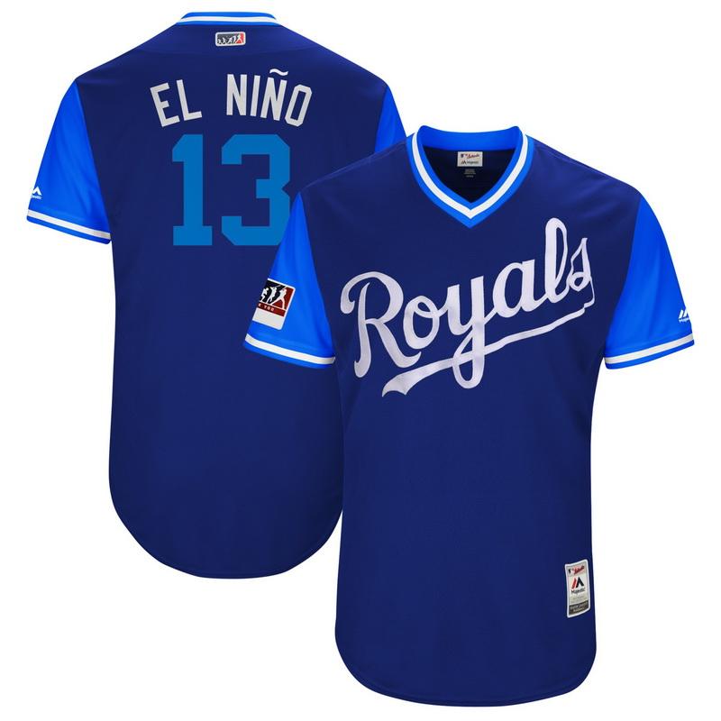 Men's Kansas City Royals Salvador Perez El Nino Majestic Royal-Light Blue 2018 Players' Weekend Authentic Jersey