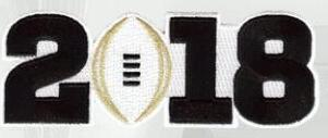 2018 College Football National Championship Game Jersey Blaack Number Patch