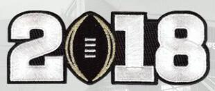 2018 College Football National Championship Game Jersey White Number Patch