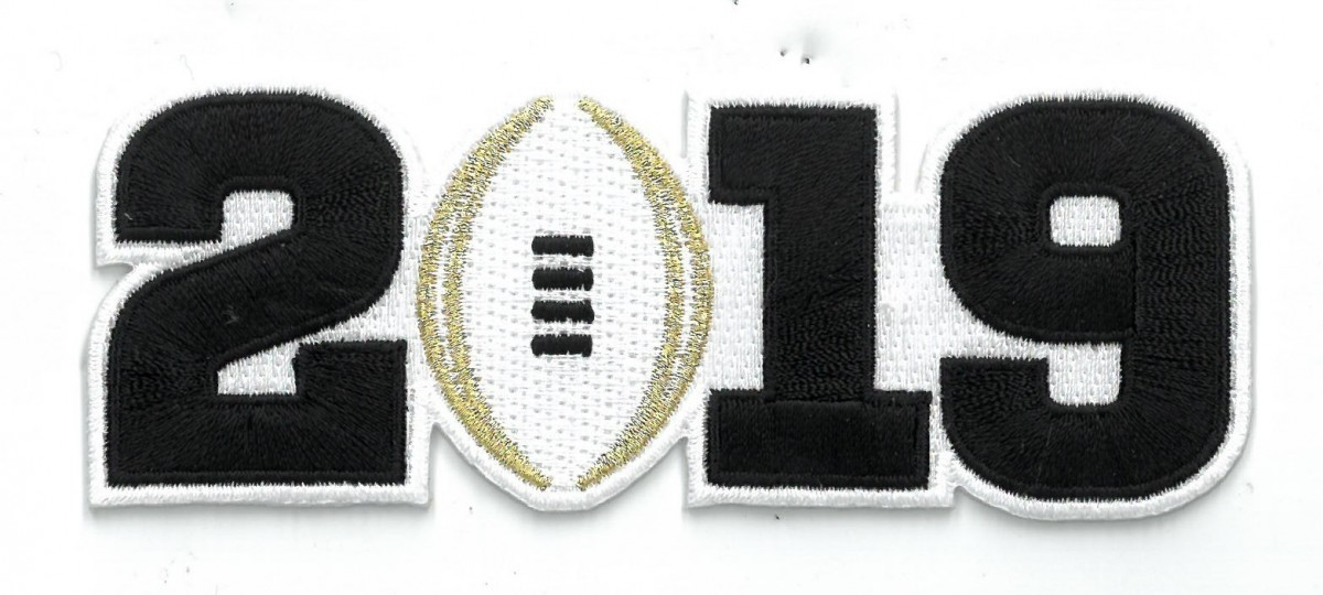 2019 College Football National Championship Game Jersey Black Number Patch