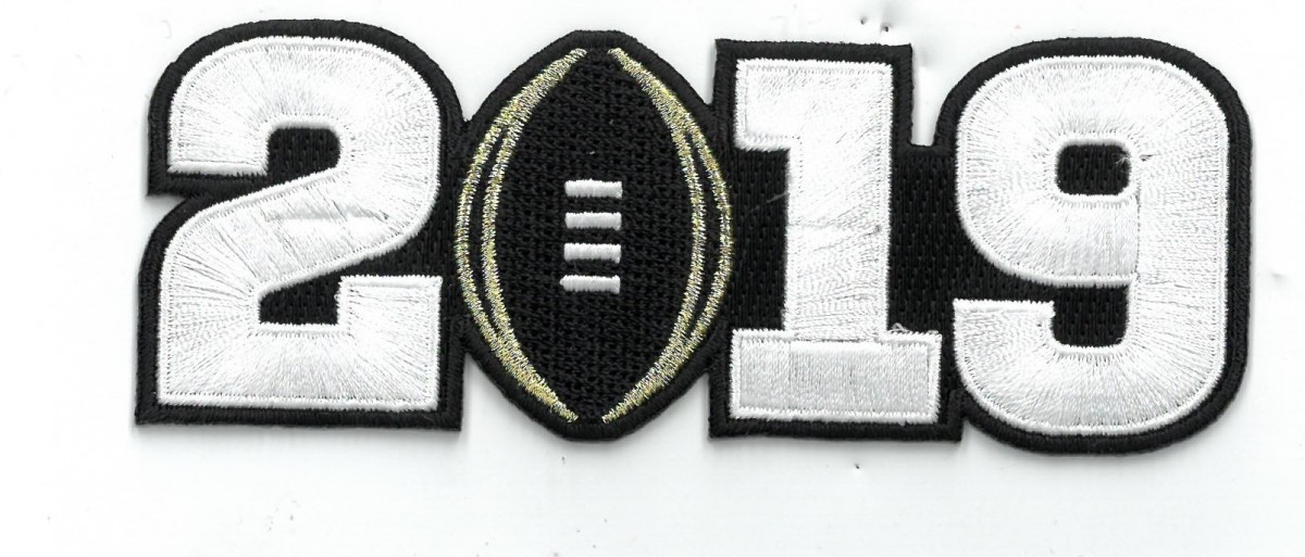 2019 College Football National Championship Game Jersey White Number Patch