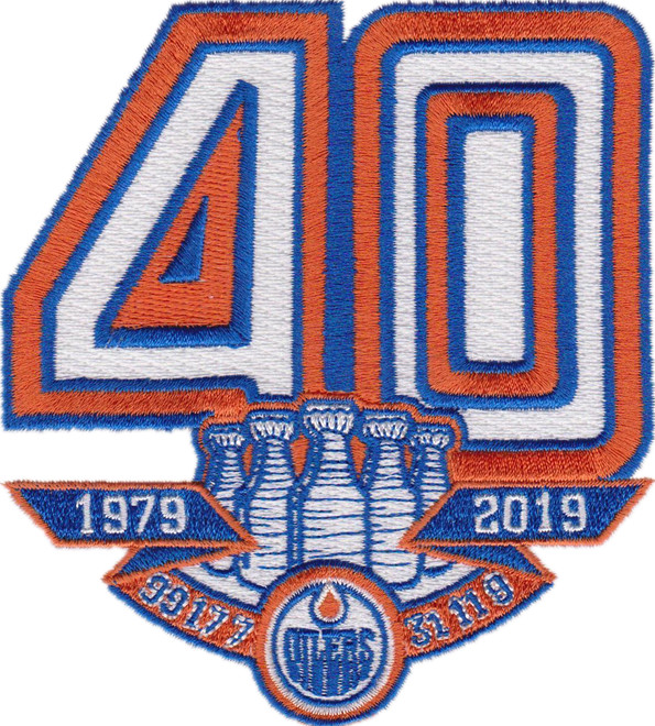 2019 Edmonton Oilers 40th Anniversary Jersey Patch