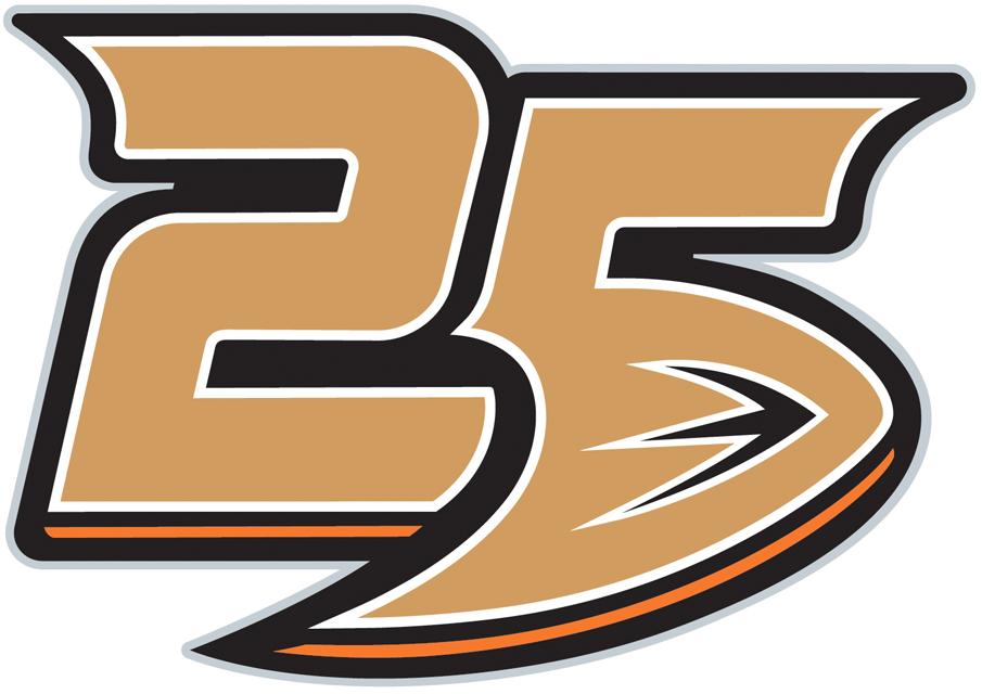 2018 Anaheim Ducks 25th Anniversary Season Logo Jersey Patch