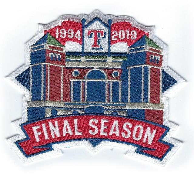 2019 Texas Rangers Stadium Final Season Jersey Patch