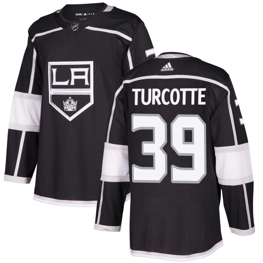 Men's Los Angeles Kings #39 Alex Turcotte Black Home Stitched Adidas NHL Jersey