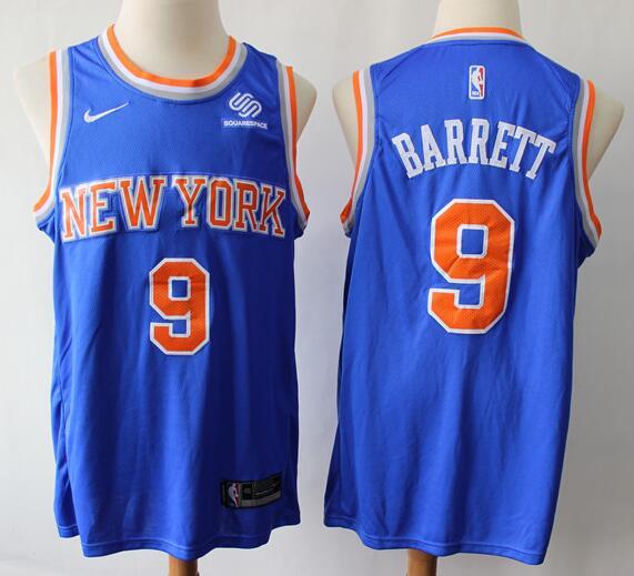 Men's New York Knicks #9 RJ Barrett Royal Blue Nike Swingman Stitched NBA Jersey