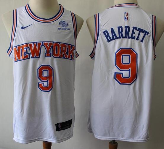 Men's New York Knicks #9 RJ Barrett White 2019 Retro Nike Swingman Stitched NBA Jersey