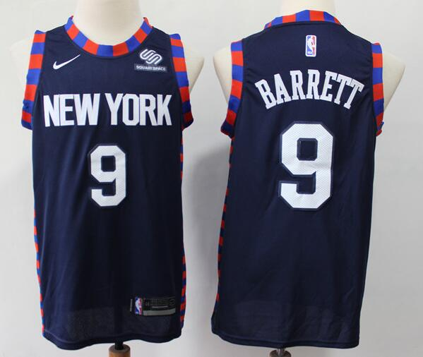 Men's New York Knicks #9 RJ Barrett Navy Blue 2019 City Edition Nike Swingman Stitched NBA Jersey