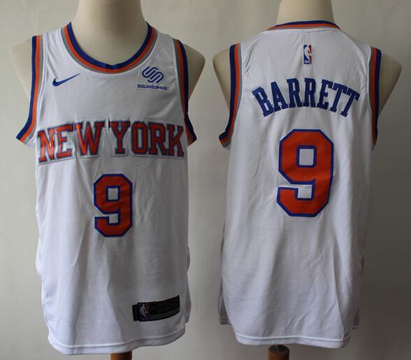 Men's New York Knicks #9 RJ Barrett White Nike Swingman Stitched NBA Jersey