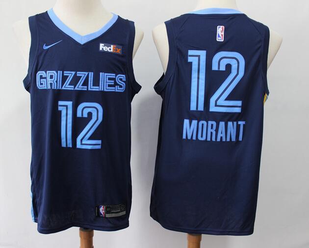 Men's Memphis Grizzlies #12 Ja Morant Navy Blue Nike Swingman Stitched NBA Jersey