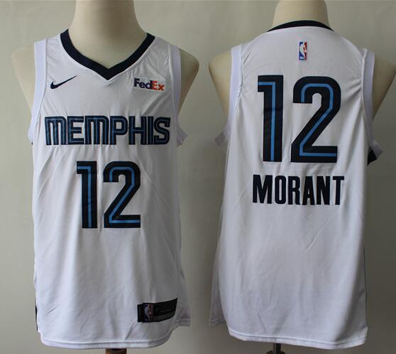 Men's Memphis Grizzlies #12 Ja Morant White Nike Swingman Stitched NBA Jersey
