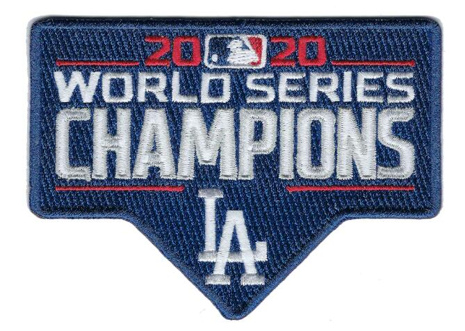 Los Angeles Dodgers 2020 World Series Champions Patch