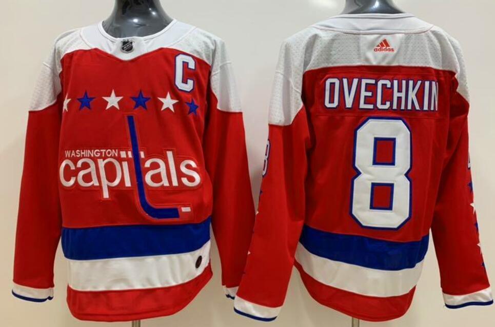 Men's Washington Capitals Alexander Ovechkin Red Alternate Adidas Stitched NHL Hockey Jersey