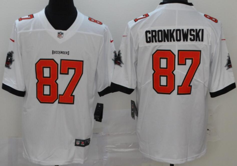 Men's Tampa Bay Buccaneers #87 Rob Gronkowski White 2020 Vapor Limited Stitched NFL Nike Jersey